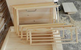 Конструирование рамок для ульев своими руками