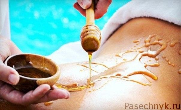 массаж с использованием меда