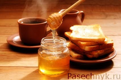 мед чай и хлеб