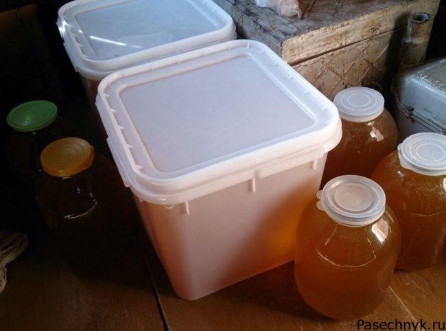 хранение меда дома