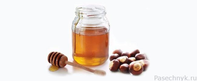 каштановый мед и каштаны