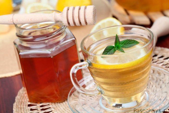 мед и лимонная вода