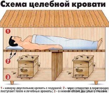 схема целебной кровати