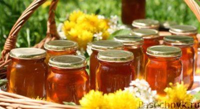 мед в стеклянной банке