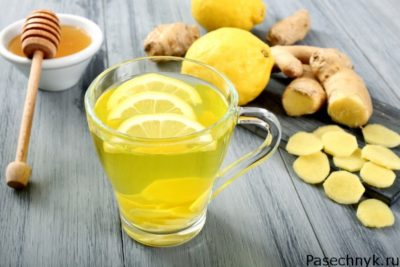 имбирь с лимоном и медом